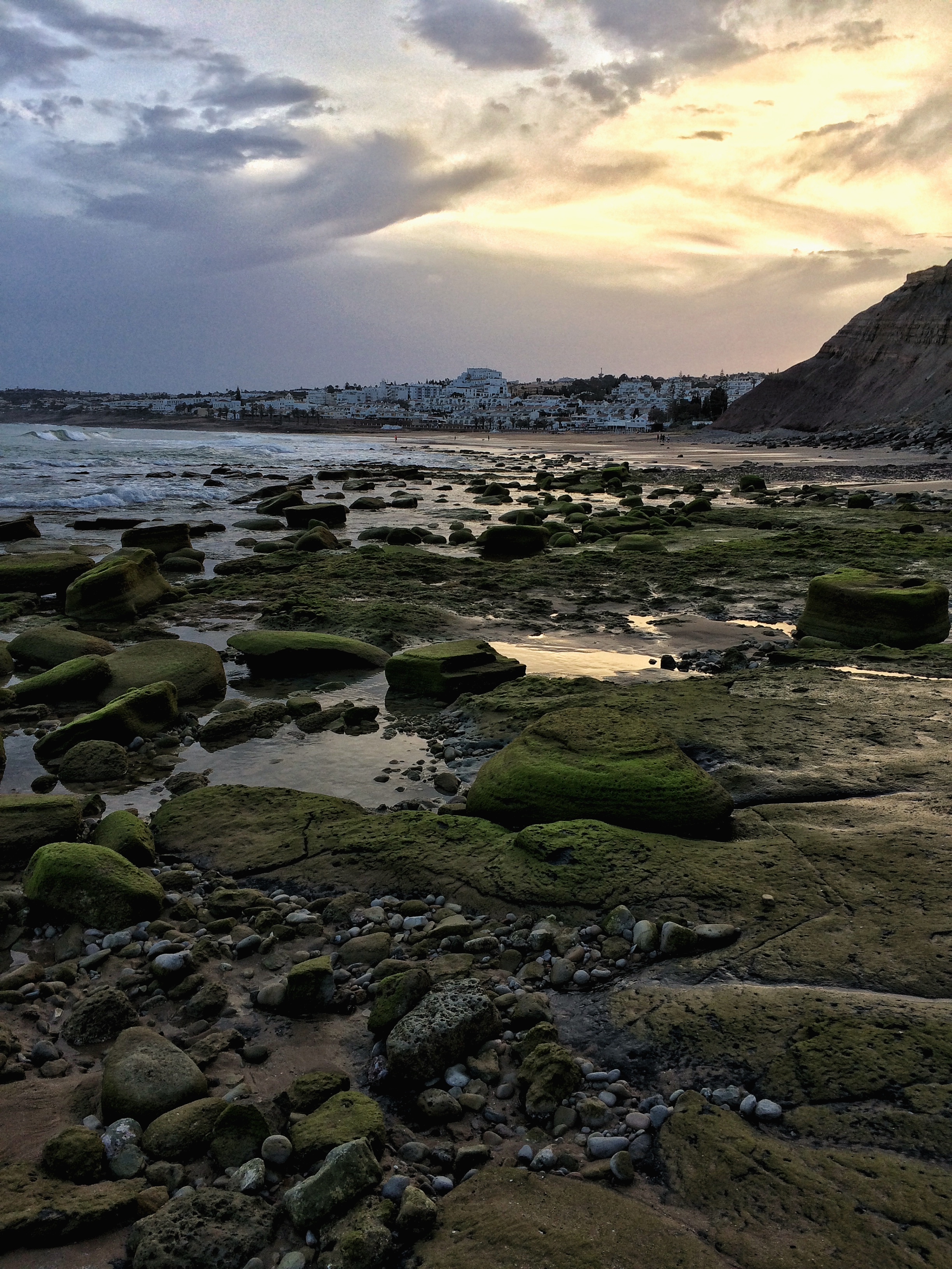 Sonnenuntergang bei Luz an der Algarve - Portugal