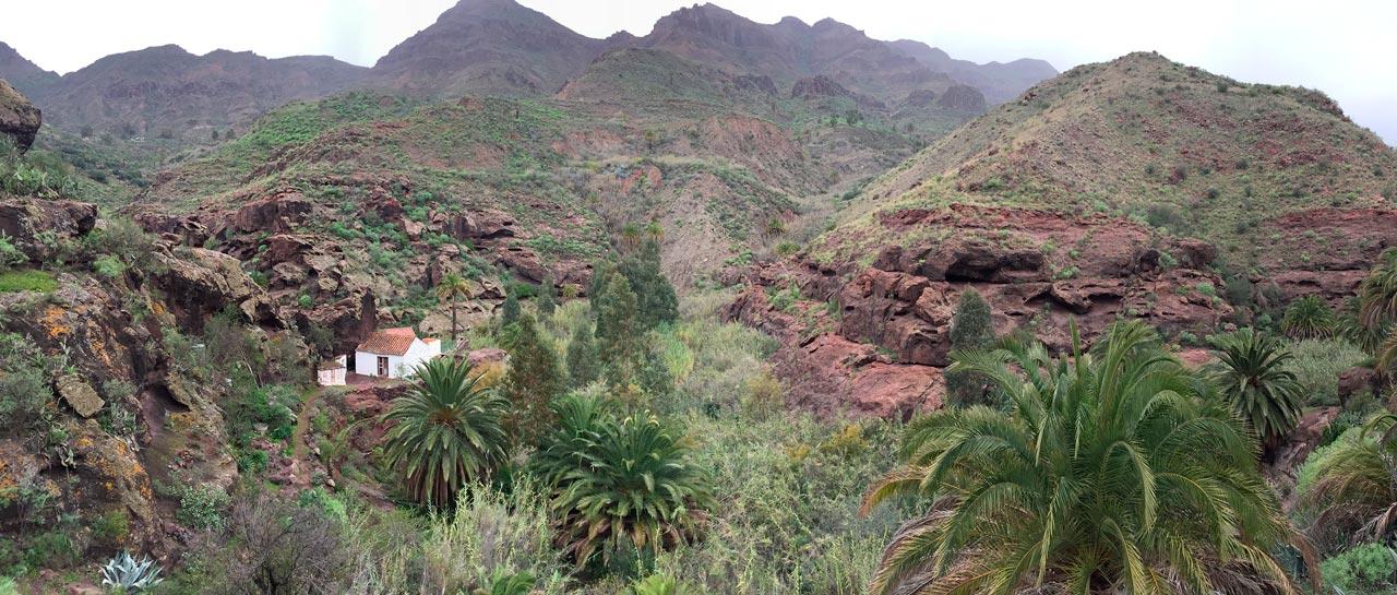 Aussteigerhäuser im Tal des Barranco de Tirajana