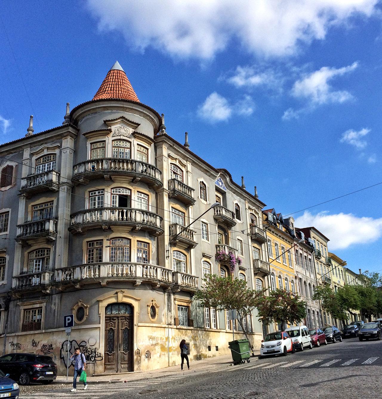 Coimbra in Portugal Häuser