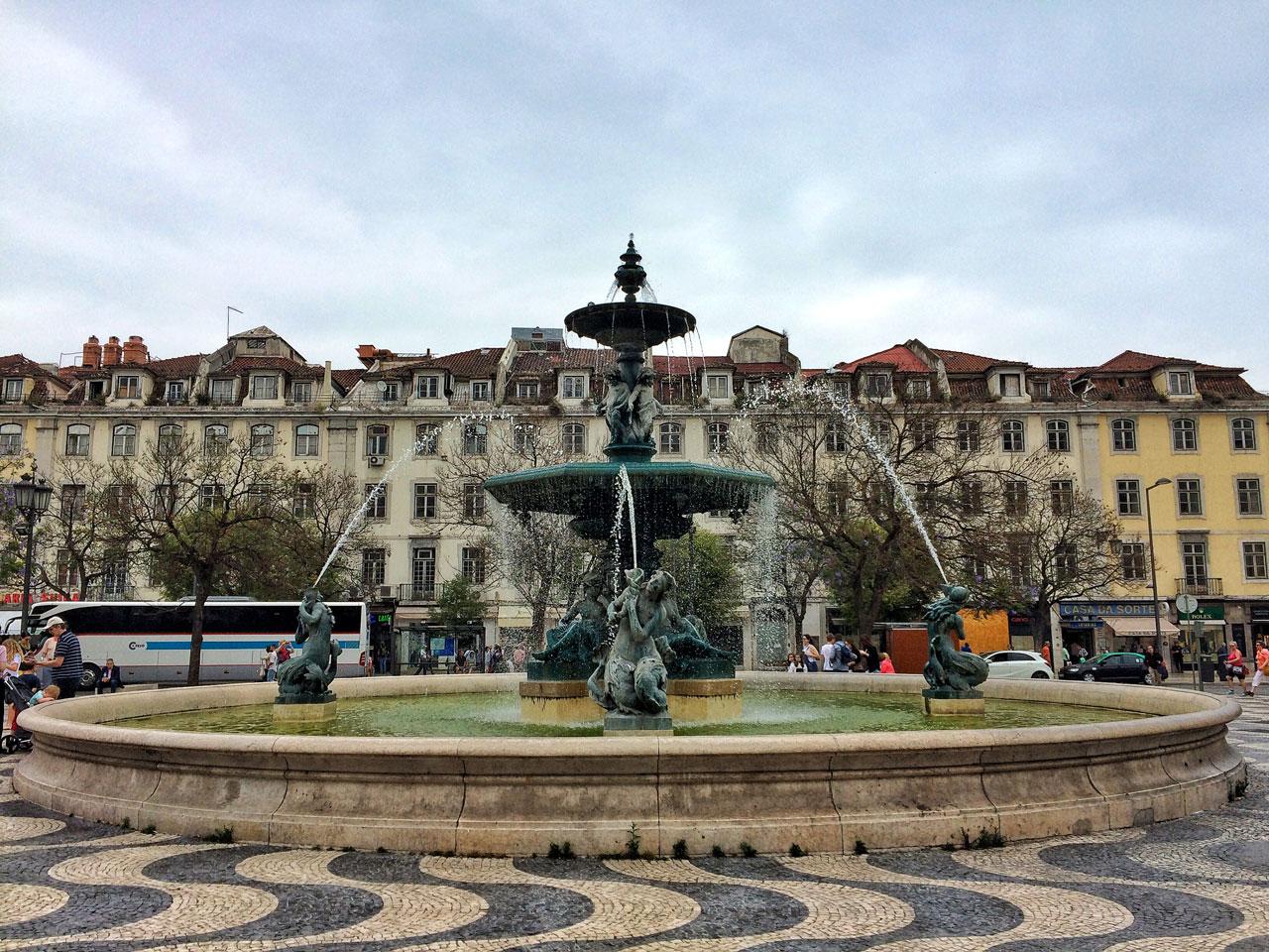 Der Rossio in Lissabon
