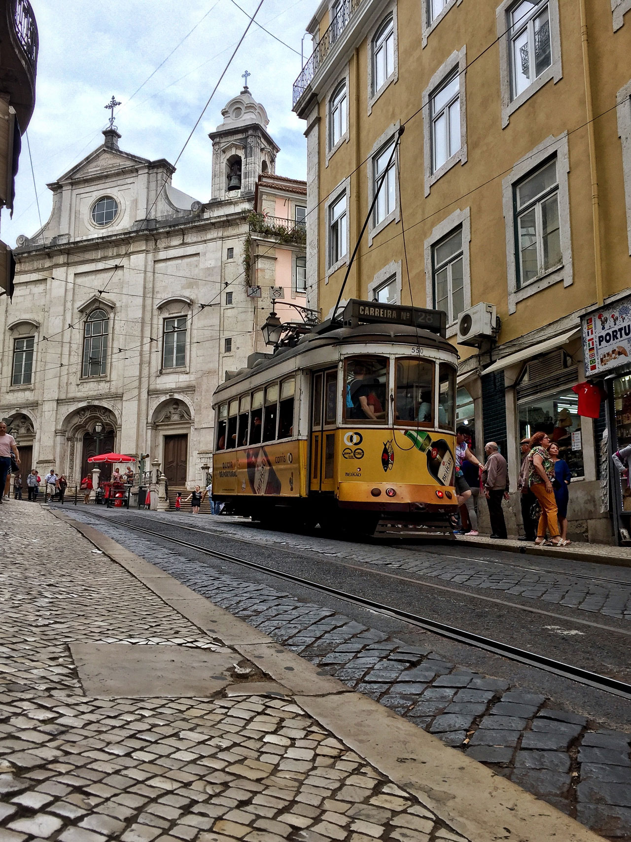 Lissabon Portugal Linie 28