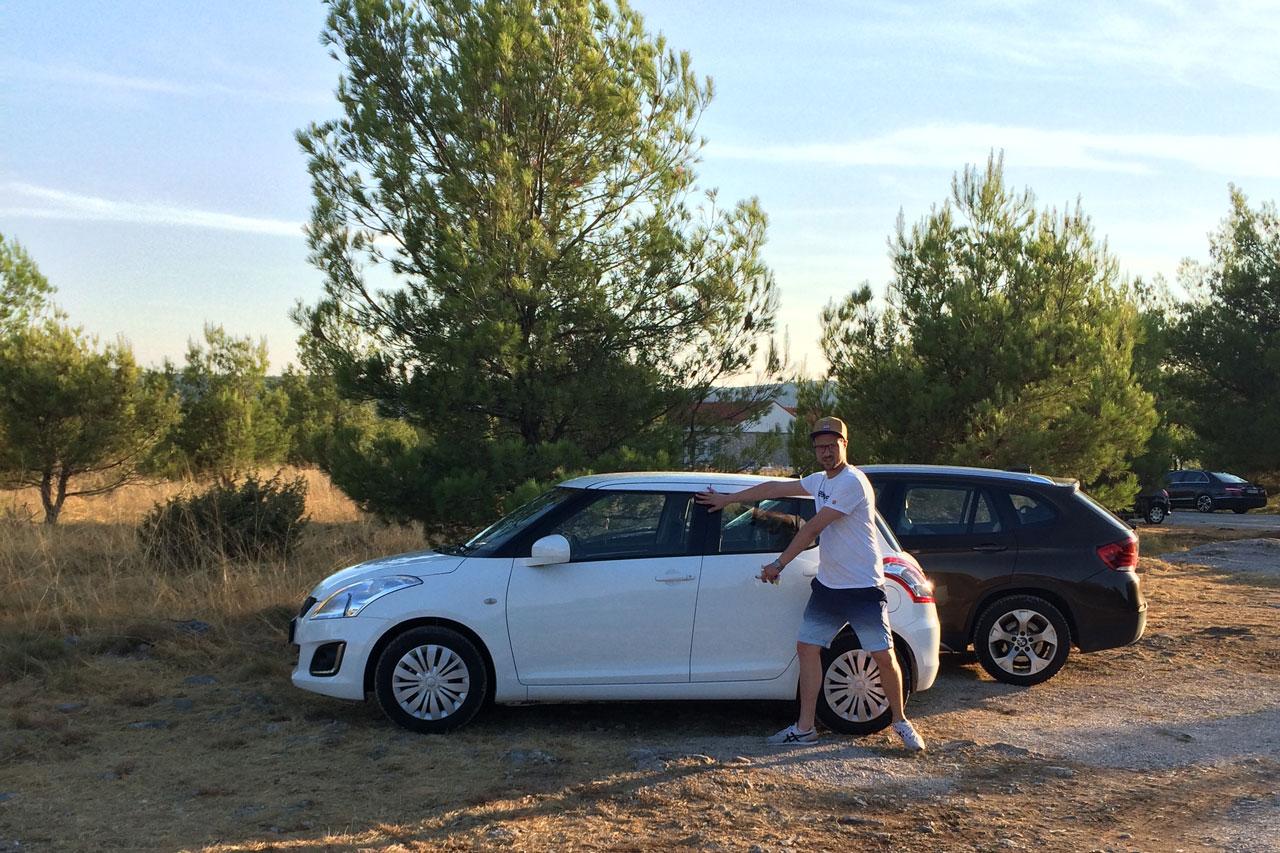 Unser kleiner Swift! Für unseren Roadtrip in Kroatien vollkommen ausreichend.