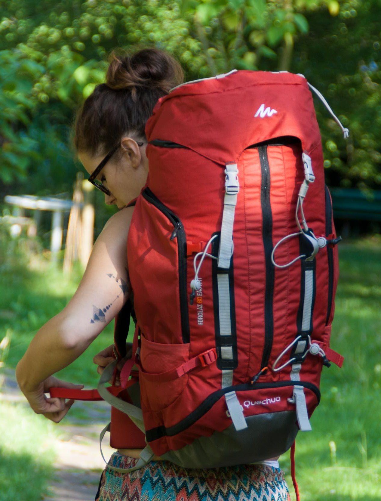 Wanderrucksack Forclaz 60l von Decathlon.