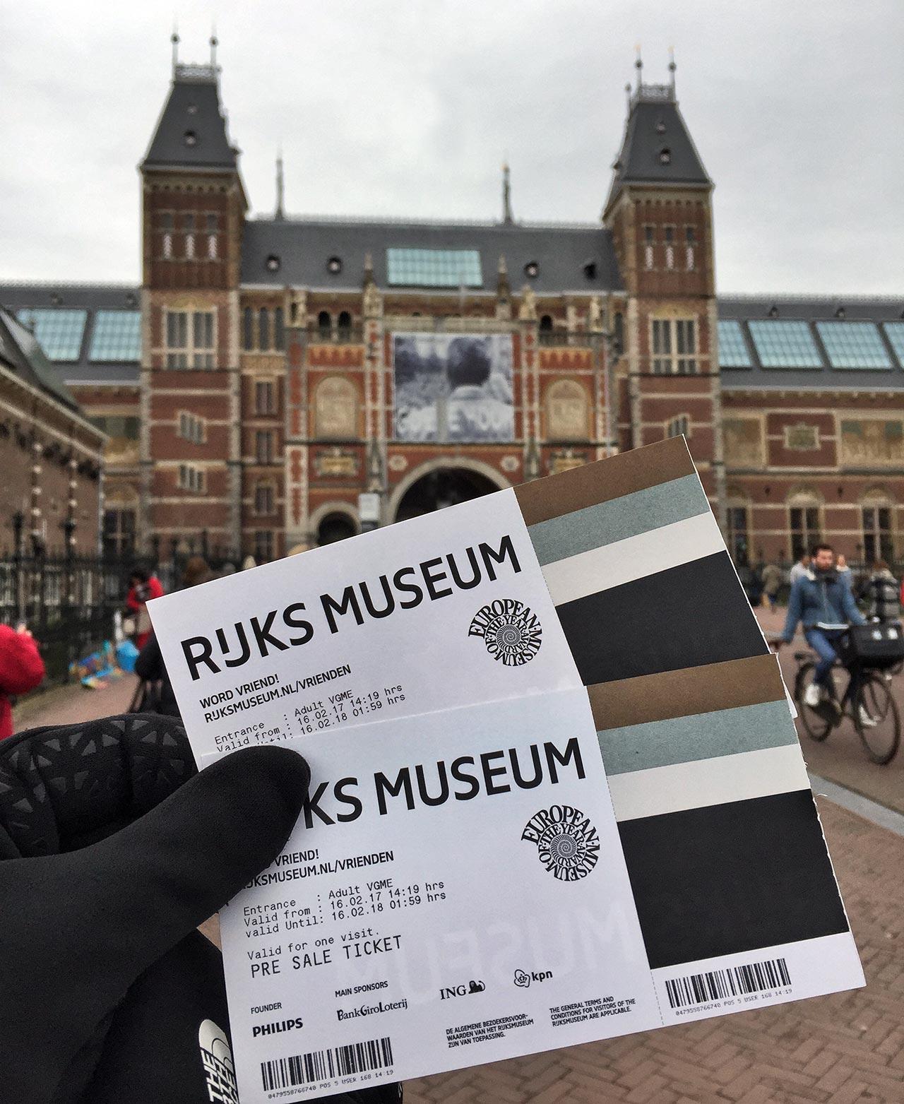 Eintrittskarte zum Rijksmuseum