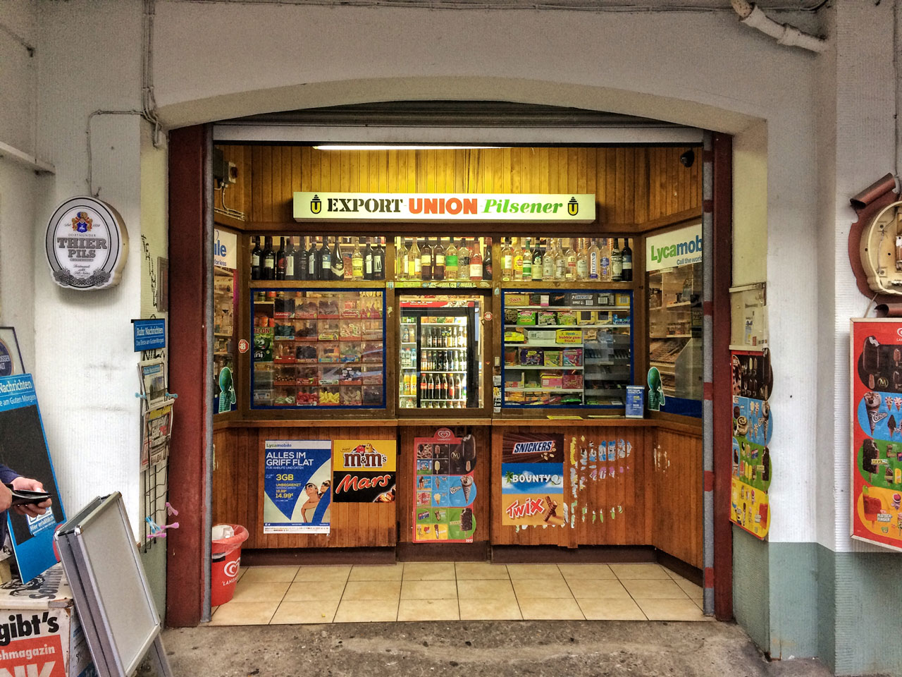Typischer Kiosk in Dortmund