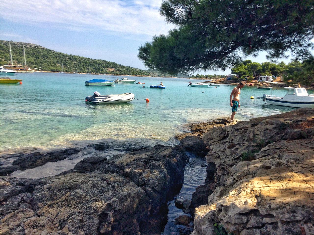 Bucht in Kosarina Kroatien