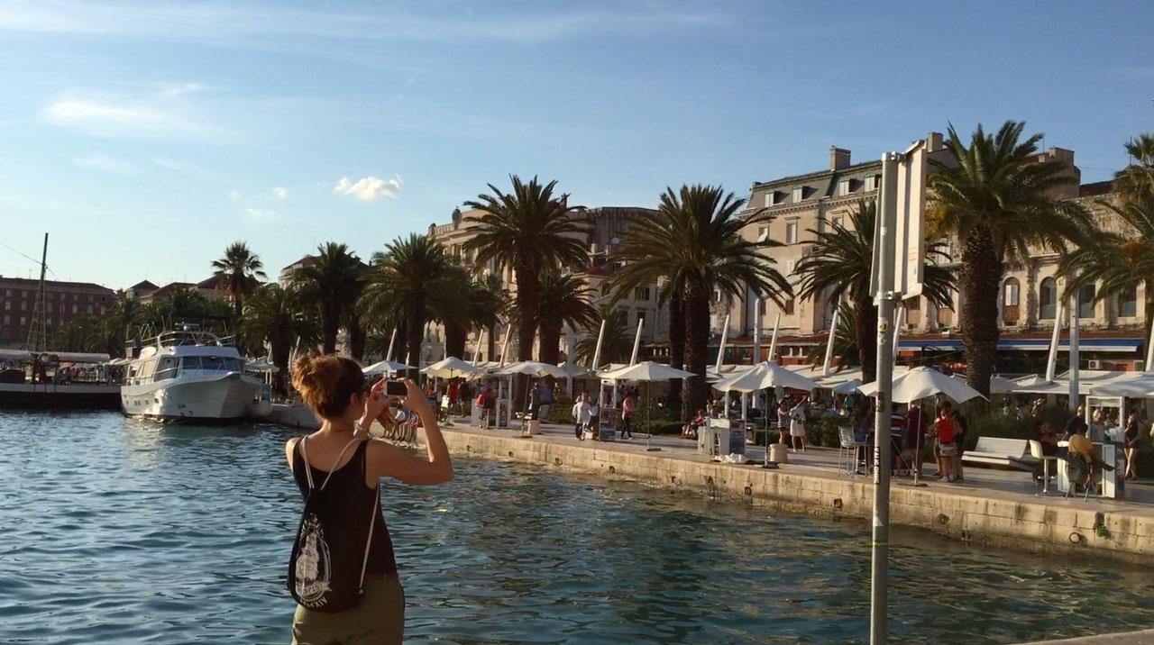 Der Hafen von Split