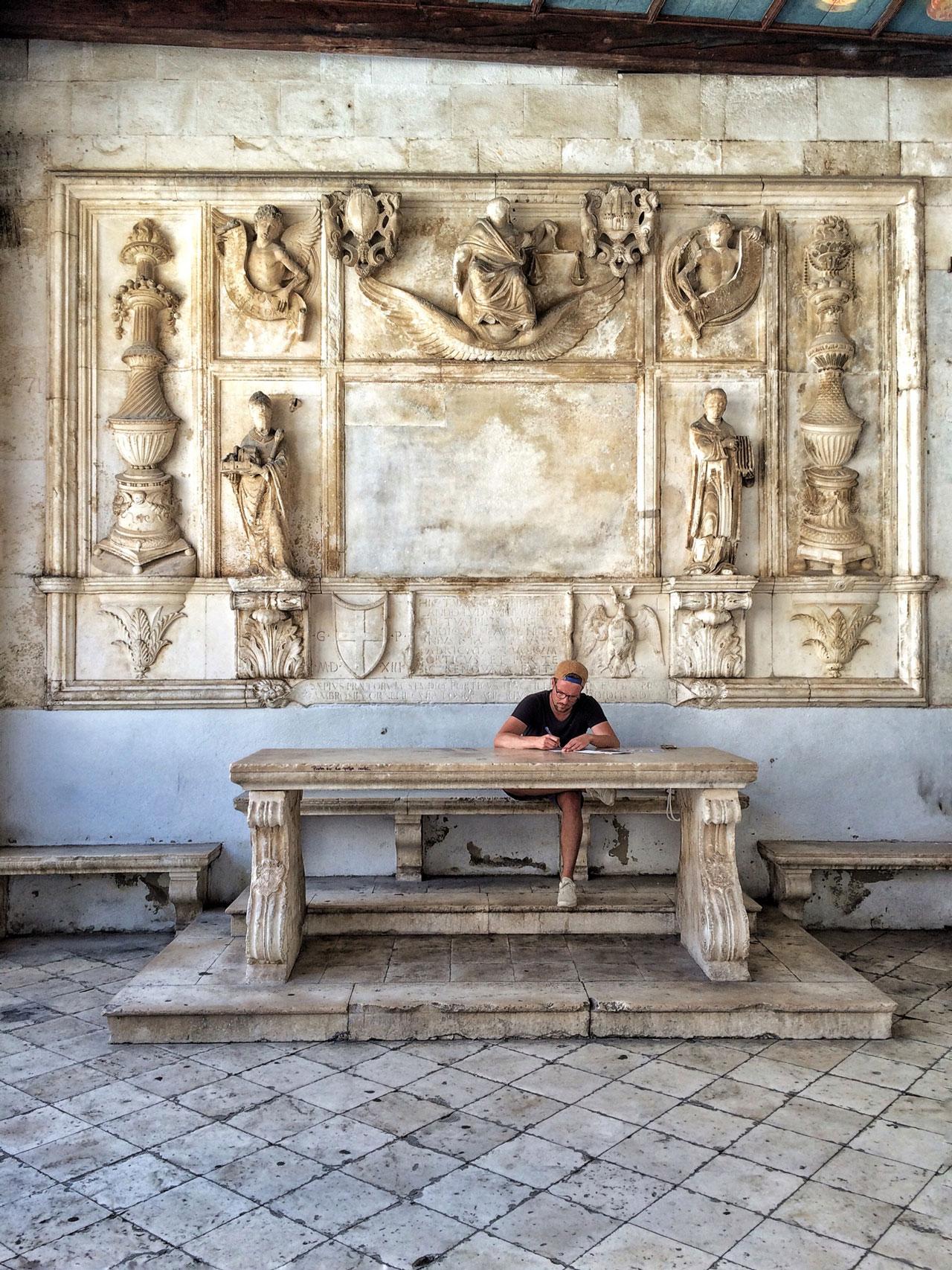 Trogirs Palast Kroatien Dalmatien