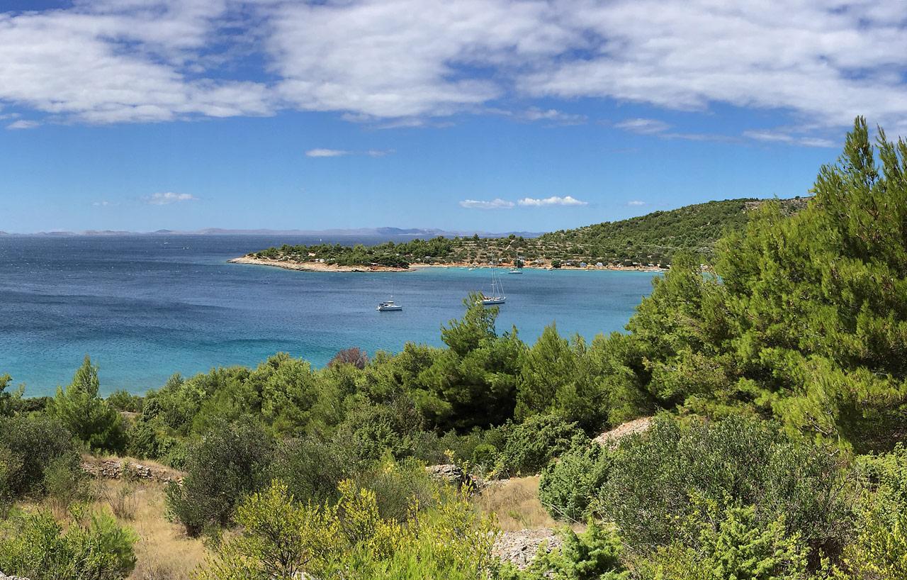 Bucht von Kosirina in kroatien