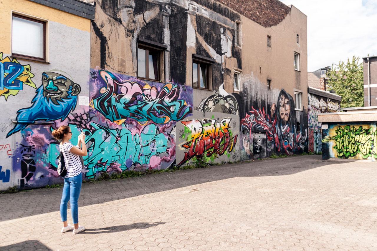 Adlerstraße Hinterhof Graffiti