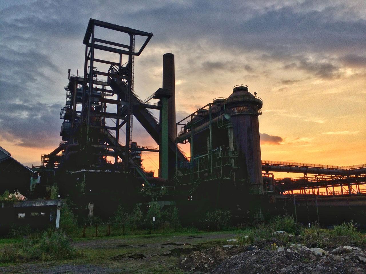 Dortmund Phoenix West Sonnenuntergang