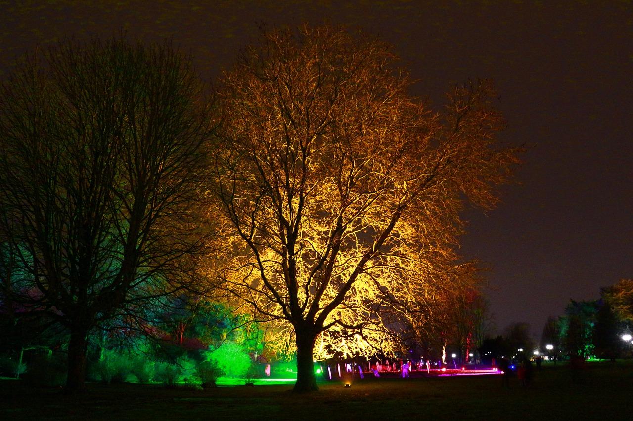 Das Lichterfest im dortmunder Westfalenpark.