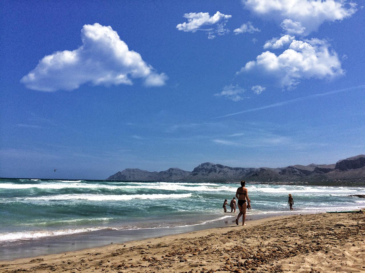 Der Strand von Santa Margalida auf Mallorca.