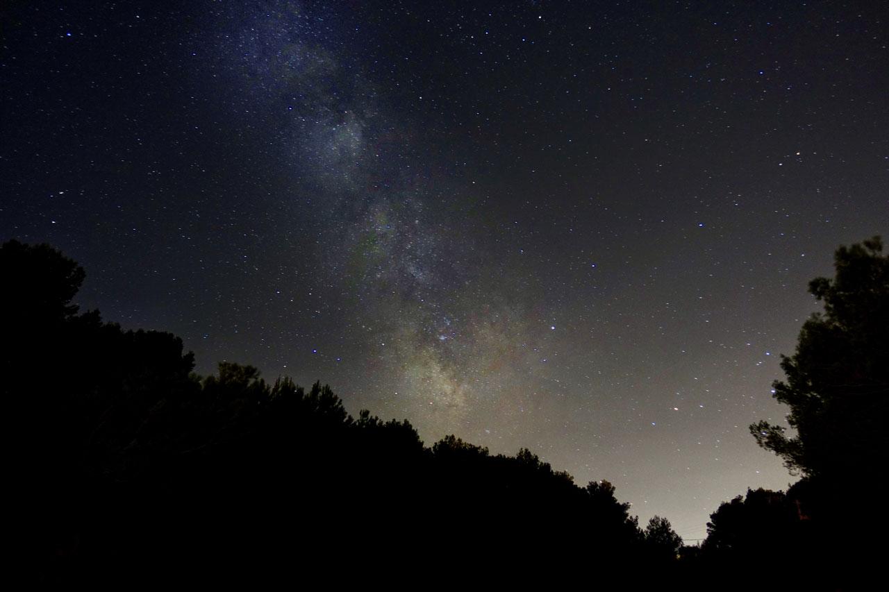 Sternenhimmel über Mal Pas.