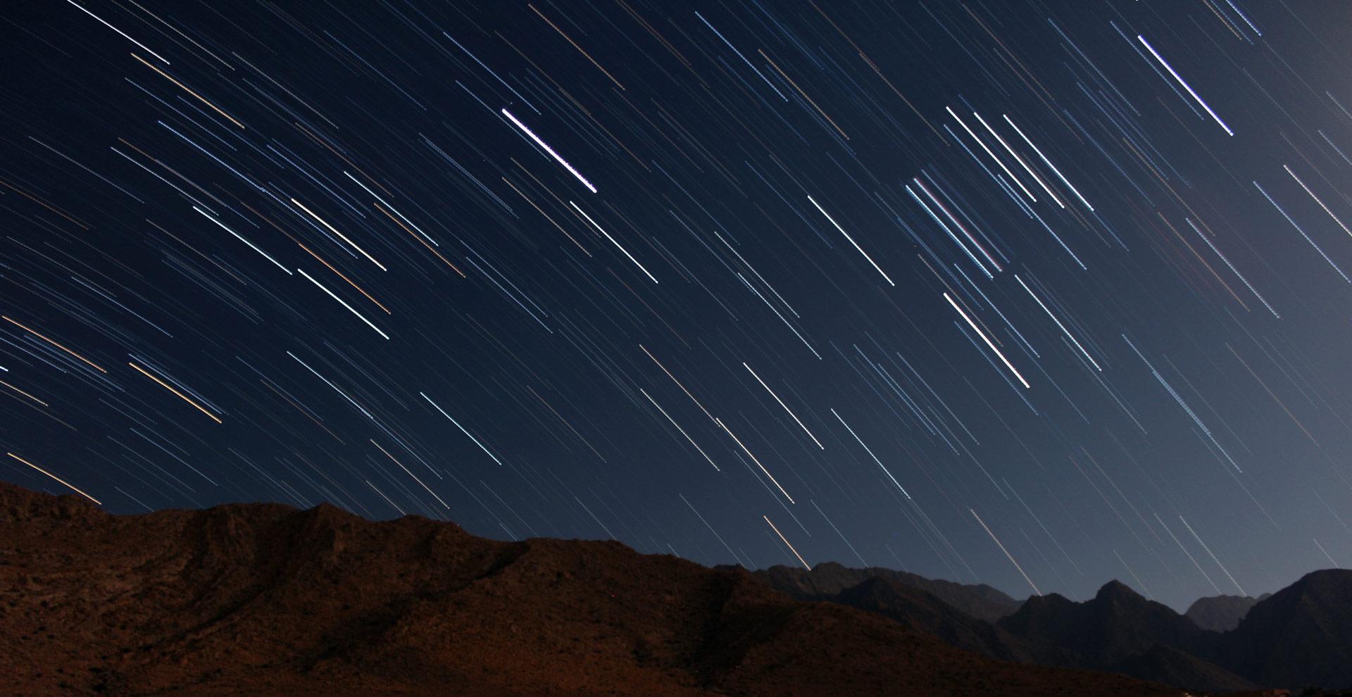 Langzeitbelichtung Nachthimmel