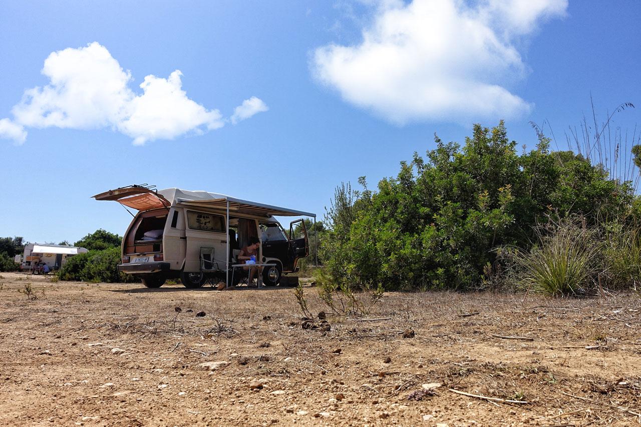 Parkplatz Cala Agulla Camping