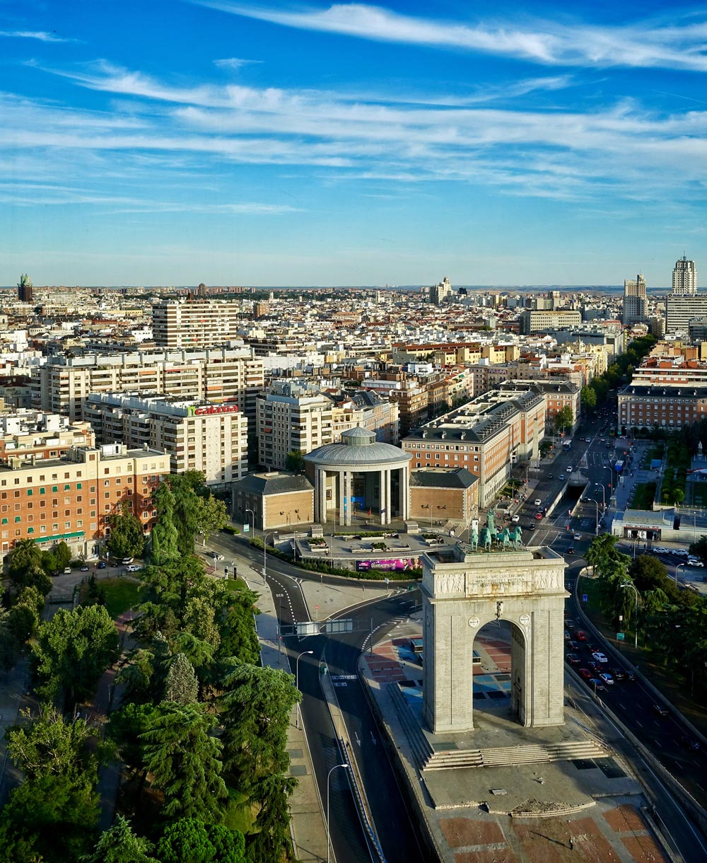 Faro de Moncloa in Madrid