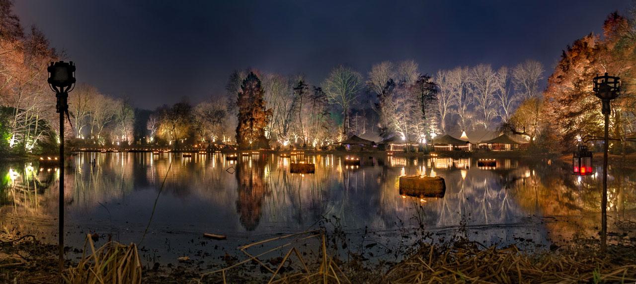 Fredenbaumpark Dortmund während des Spectaculum Weihnahctsmarktes