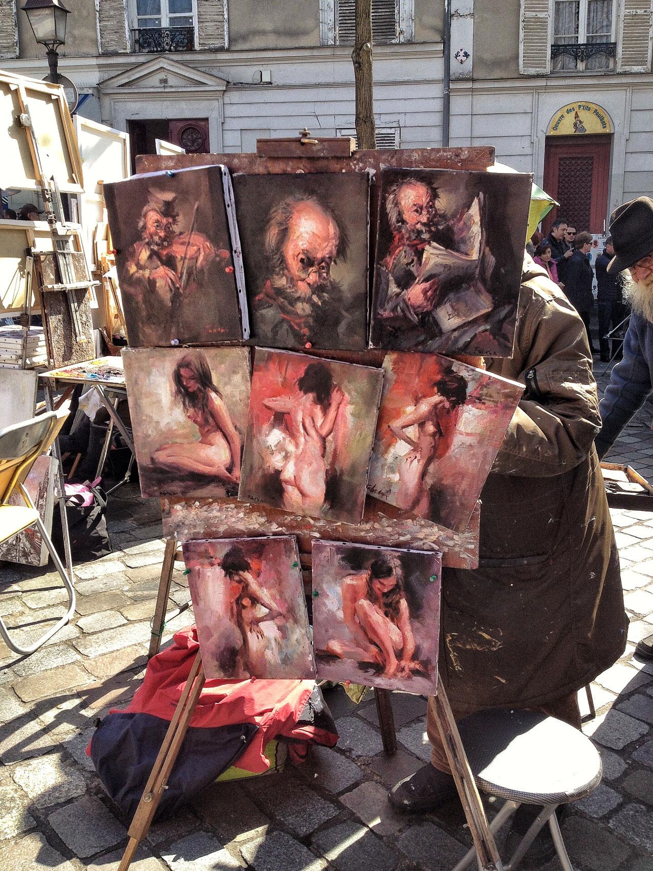 Kunst auf dem Place de Tertre Paris