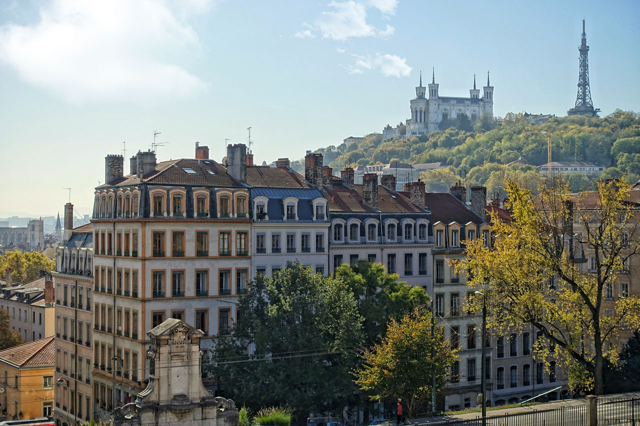 La Croix Rousse in Lyon Frankreich