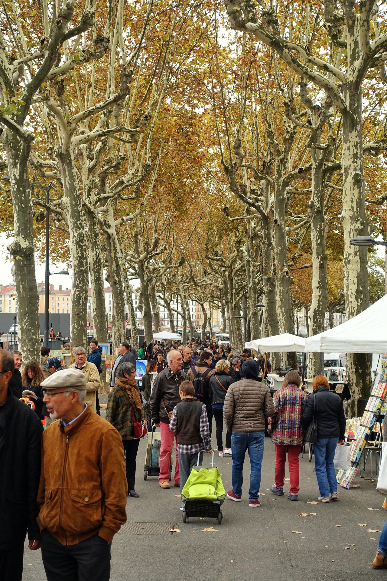 Künstlermarkt in Lyon
