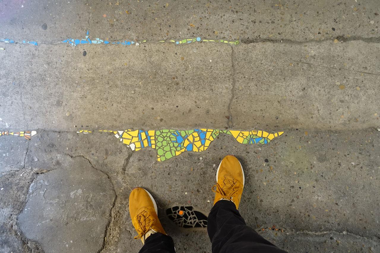 Lyon Frankreich Streetart Mosaike