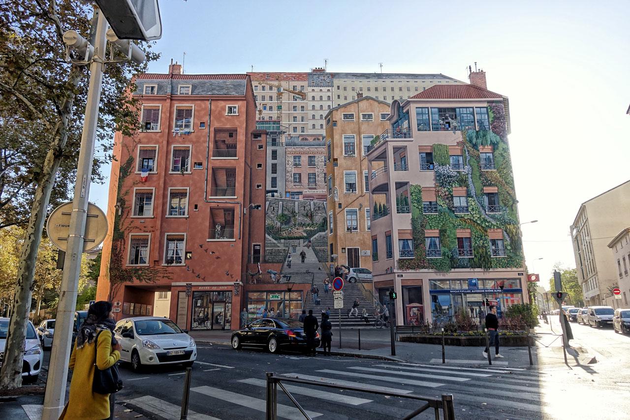 Wandbild in Lyon
