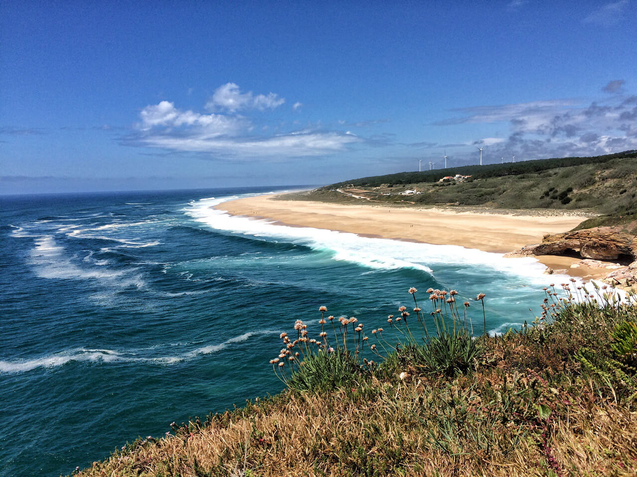Nazare in Portugal big waves