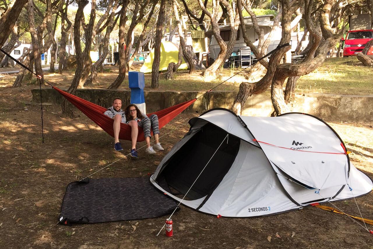 Zelten Zeltplatz Portugal Cascais Lissabon