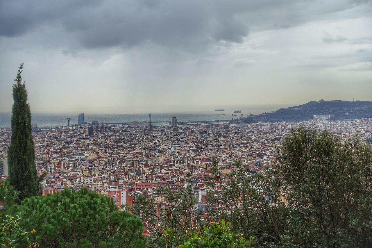 Ausblick vom Tibidabo in Barcelona