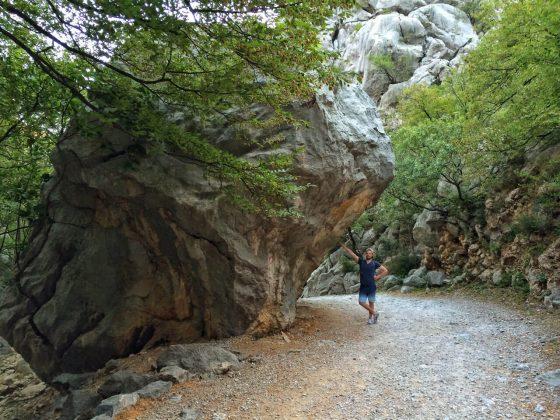 Wanderung durch den NP Paklenica in Kroatien