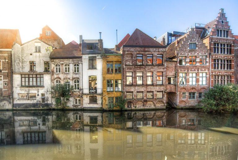 Häuserfassade in Gent, Belgien