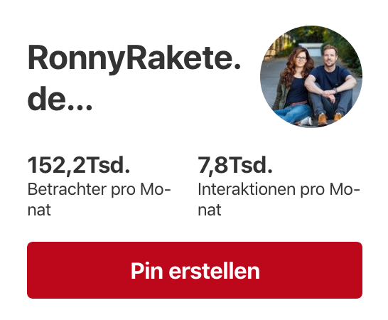 RonnyRakete Pinterest Statistik