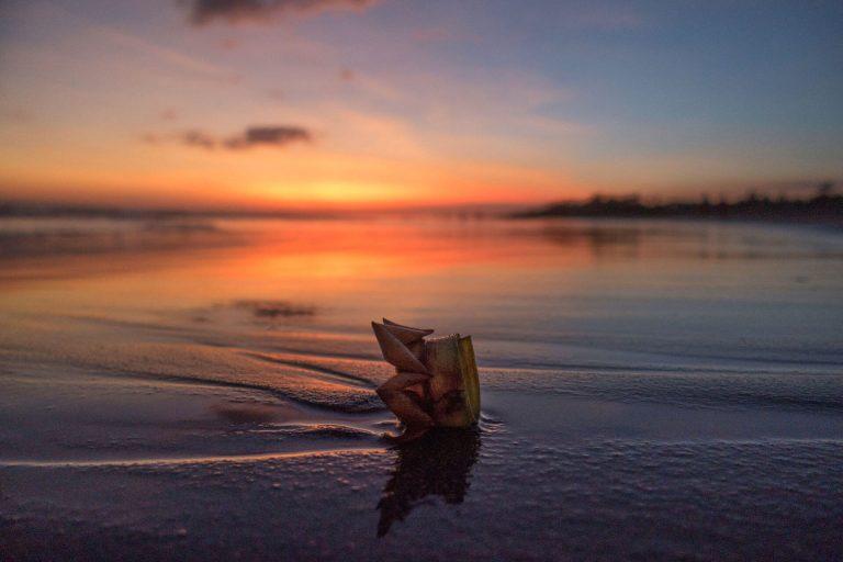 Sonnenuntergang in Canguu auf Bali