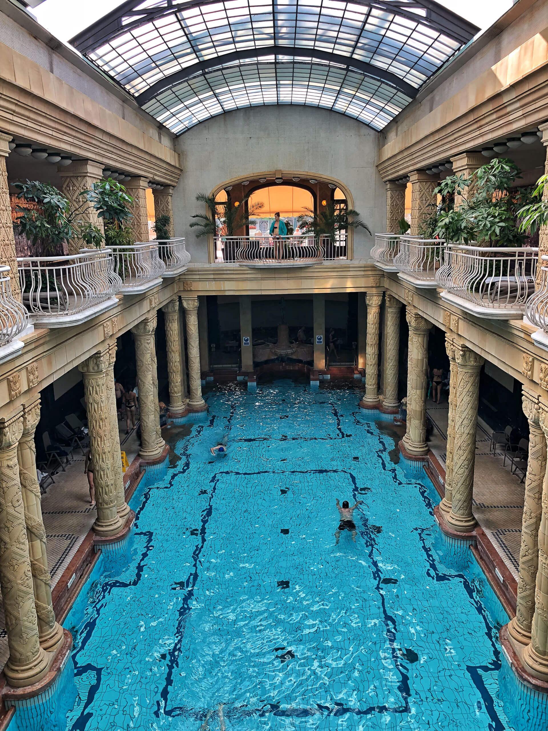 Gellert Heilbad in Budapest Schwimmbecken