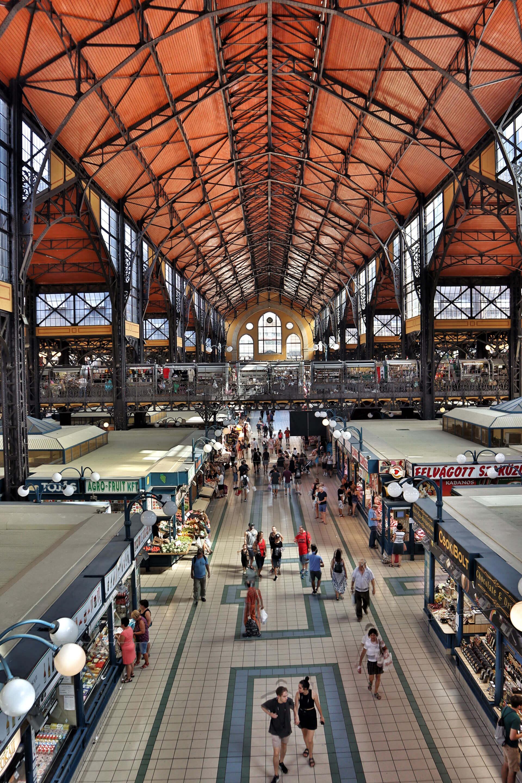 Die zentrale Markthalle in Budapest