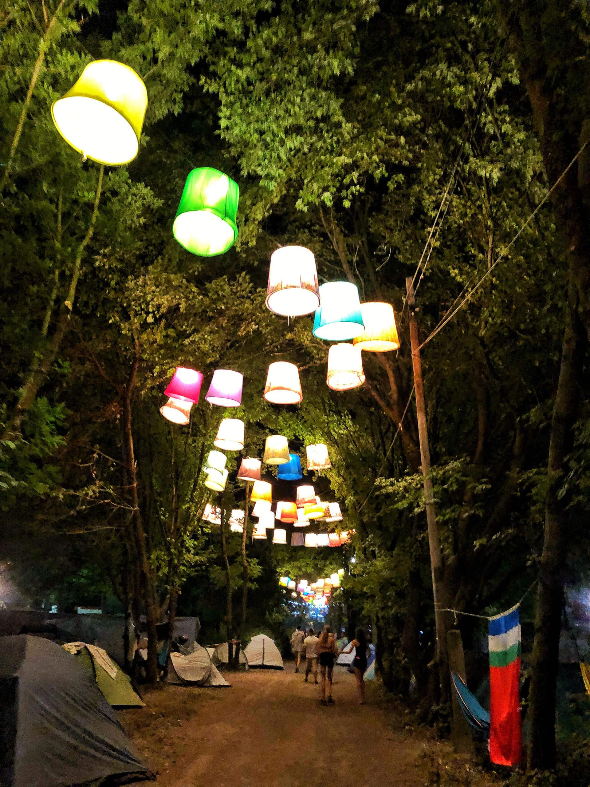 Sziget Festival in Budapest Campingplatz