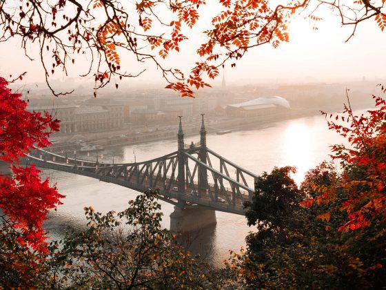 Budapest Friedensbrücke Herbst