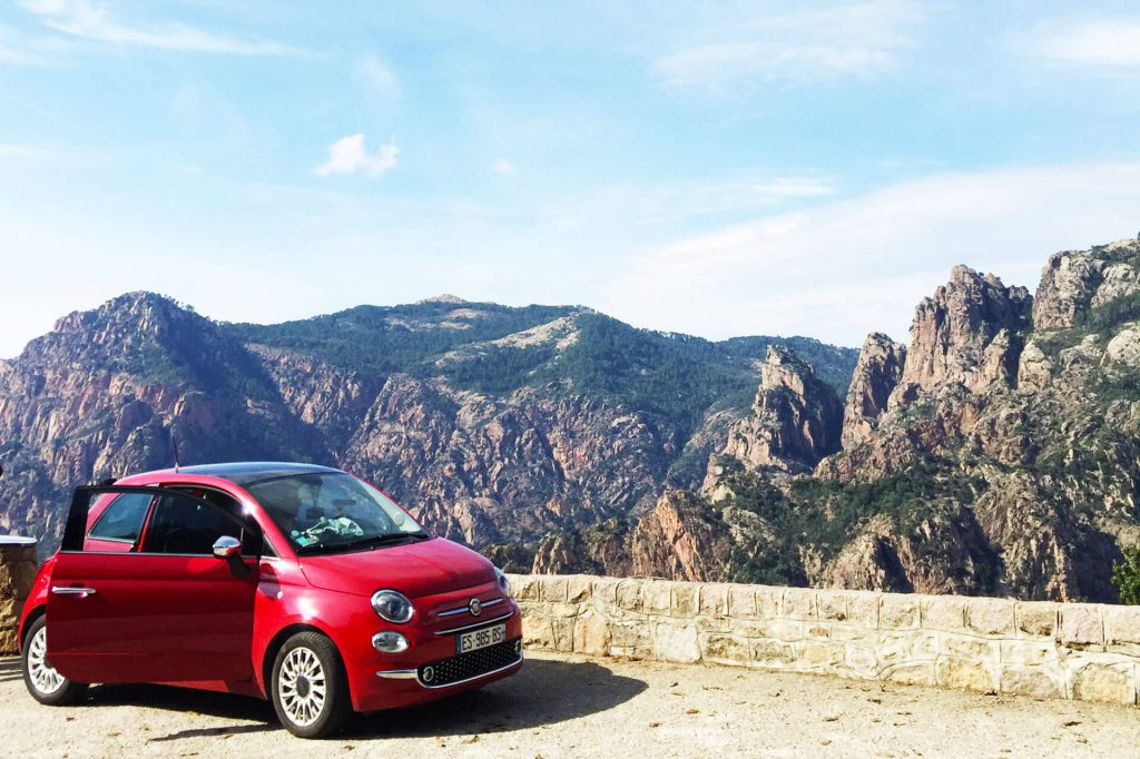 Korsika Roadtrip Blick auf die Berge