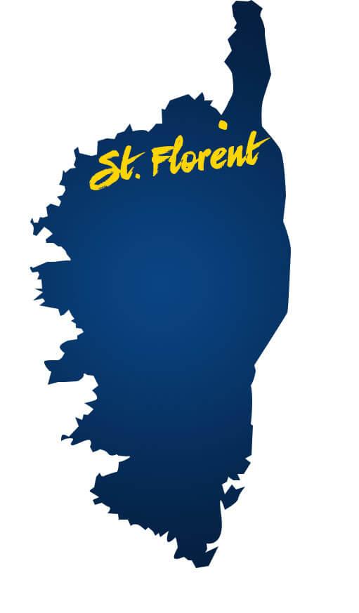 Karte St. Florent Korsika
