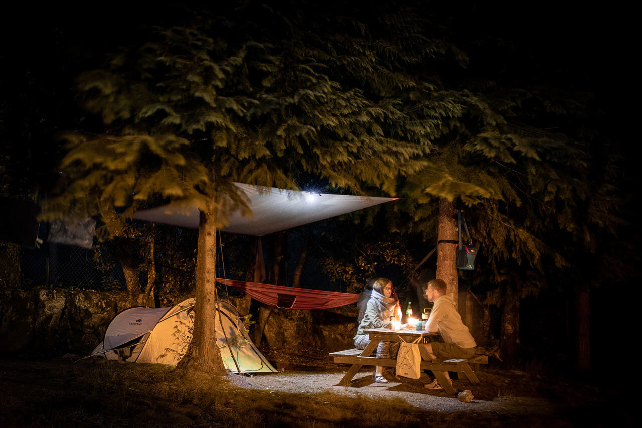 Camping mit Zelt im Nationalpark Peneda-Gerês