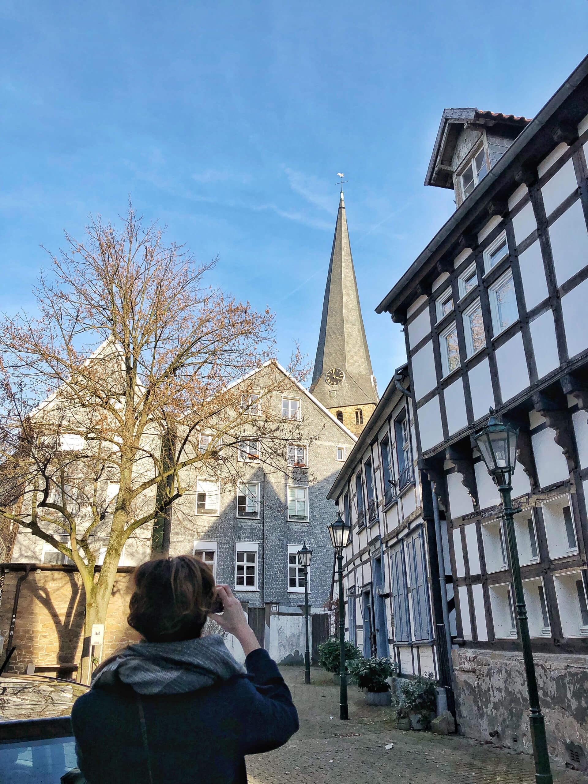 Hattinger Innenstadt schiefer Turm