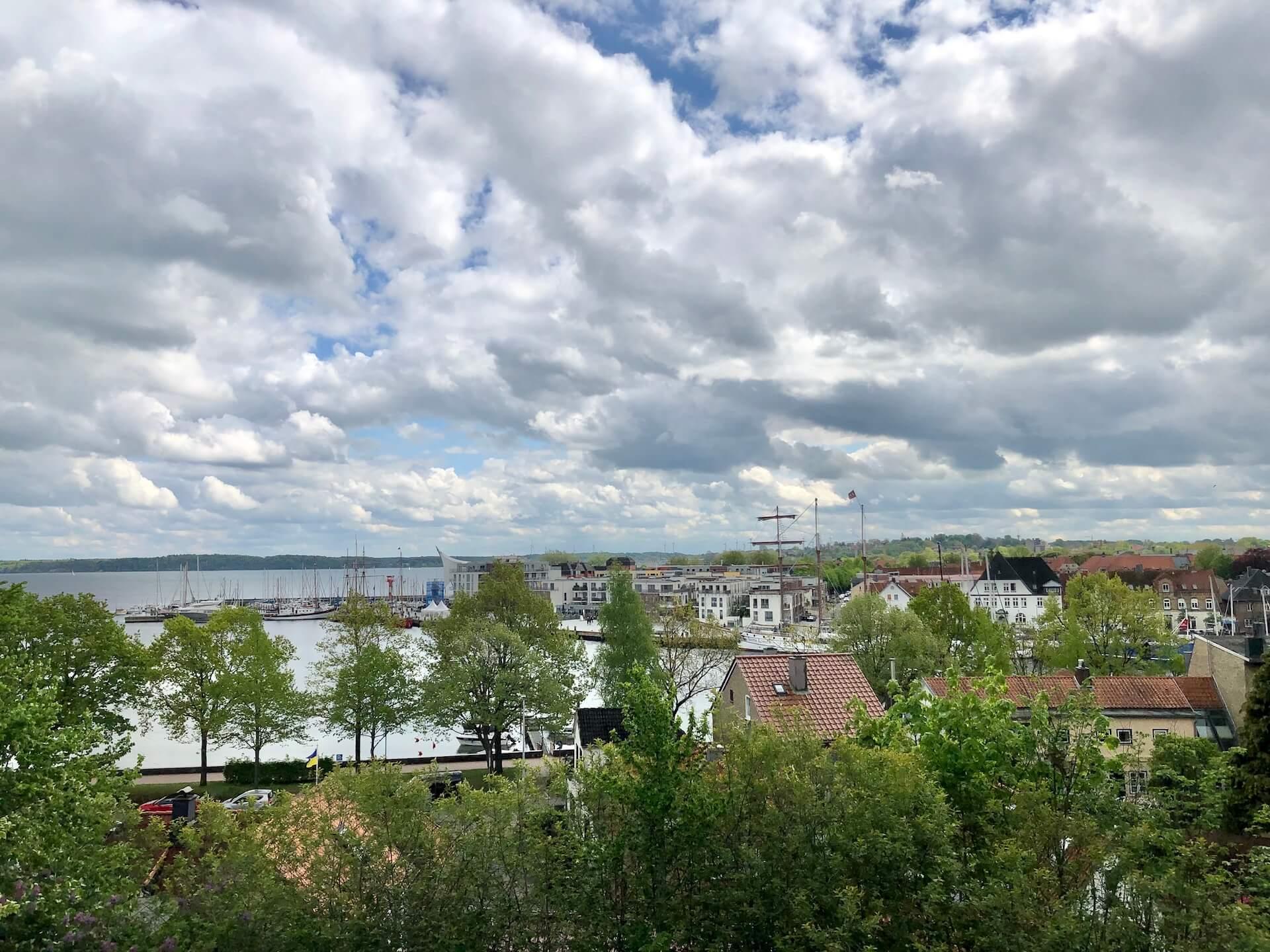 Ausblick vom Petersberg in Eckernförde